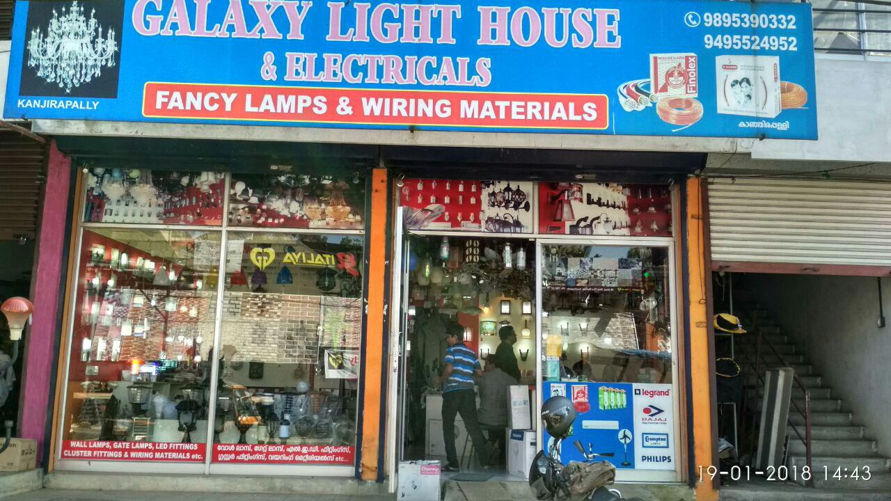 Galaxy Light House Electricals Kanjirappally Kerala Directory Wiring Materials Name